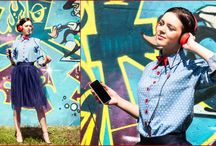 Urban collection by SEKU FASHION / Dress, tulle skirt, fashion, urban style