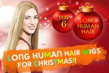 TOP 6 Long Human Hair Wigs for Christmas!!