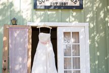 Roaring Camp Barn wedding / Roaring Camp is a fun venue with a lot of historic character! An old school house, train station and barn.
