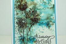 Cards - Watercolor and Distress
