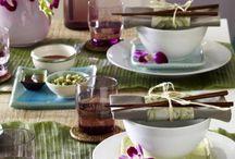 Asian table deco
