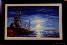 cross stitch ocean,lighthouse...