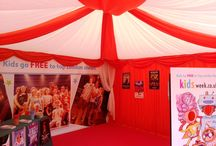 Set dressing -bespoke display / Besides the regular lining styles we can also create and install entirely bespoke designs, such as these exhibitor stalls at #WestEndLive
