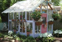 Garden Sheds & Glasshouses / http://www.inspiredhomeideas.com/category/garage-and-shed/