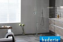 Baderie badkamers / Van Wanrooij keuken- en badkamerspecialisten is aangesloten bij Baderie en kan daarom het complete assortiment aanbieden. Op dit bord inspiratie met Baderie badkamers.