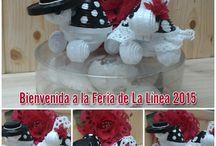 Bienvenida a la Feria de La Línea 2015 / Y con esta parejita tan simpática de flamencos, nos despedimos esta semana y damos la bienvenida a la Feria de La Línea 2015. Informaros también con motivo de estas fiestas, caprichitos de papel cierra los días 21 y 22 de feria. Os deseo que lo paséis muy bien!! Felicidades a todas las Carmenes desde Caprichitos de Papel