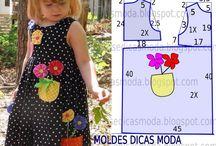 roupas infantis com moldes