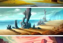 Deserts illustrations