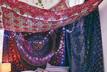 Boho indian bedroom