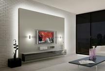 Salon ściana z TV