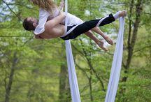 Duos aerial silks / tecido