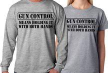 GUN CONTROL Funny firearms Rifle NRA supporter T-shirt