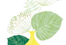 Florals / #Floral #decorative #wall art #prints #posters #home decor © Catherine Aguilar • www.illustrationbycatherine.com