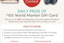 Worldmarket.com PIN IT Contest / by Jenn Ahnquist