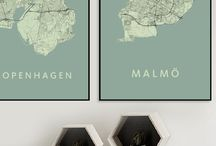 Sweden (city maps) / Handmade city maps. Want a map we don't have yet? Contact us!