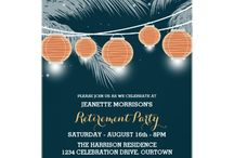 Retirement Party / Planning a retirement party? Check out these great retirement party themed invitations for the perfect start to your party planning! / by Carla Rolfe
