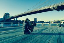 """NYC Photoshoot / Sniffery Magazine did a photo shoot yesterday at Brooklyn Bridge Park. Big Thanks to Olga Shmaidenko of RiverFlowsThroughIt, our canine model """"Papi"""" (Pah-Pee), and of course NYC for providing us such an amazing backdrop."""