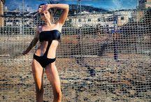 golden point trikini frange/leather fringe