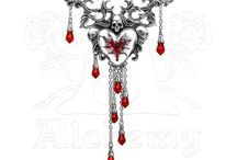 Vampires and Werewolves / Blood, Bats, Wolves, Vampire, and Werewolf themed jewelry and accessories by Alchemy Of England. Everything here can be purchase on AlchemyOfEngland.com