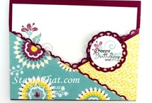 Stampin up- different shaped cards