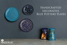 Neerja Blue Pottery Decorative Plates