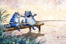 синие кошки