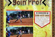 Softball Scrapbooking / Layouts and products for scrapbooking your softball pictures