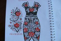 Ιρις μοτιφ φορεμα