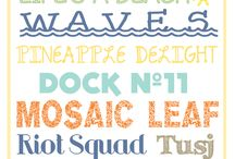 fonts / by Natalie Comeaux