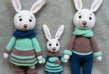 húsvéti nyuszi család