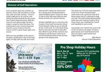 Tee Times Newsletter / The Dunes Golf & Winter Club publishes two newsletters per year in the Spring and Winter. / by The Dunes Golf & Winter Club