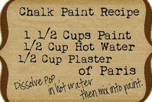 recette  pour peinture à la craie