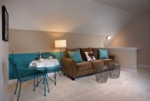 """""""Palazzo Bonus Suite"""" (optional) / The Palazzo 2nd Floor Bonus Suite adds approx. 450 sq. ft. of living space to the home. Features include a """"loft style"""" 3rd bedroom, sitting and brunch area, full bath and 2 closets."""