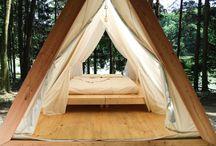 Палатка дереянная