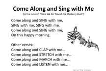 Toddlers/Preschoolers songs