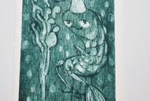 Chiara Cerinotti's Etchings and Screenprints. / Chiara Cerinotti's etching.