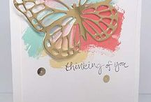 SU - Butterfly cards / #Butterfly #wings #basics #vlinders #stampinup #watercolor
