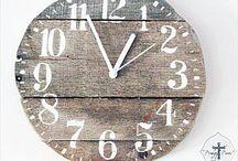 Pallet Wall Clock / DIY wood pallet wall clock designs ideas for home.