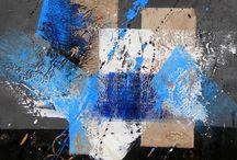 Toile abstraite