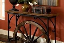 wooden wheel table