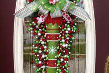 Coronas De Navidad zapato duende verde