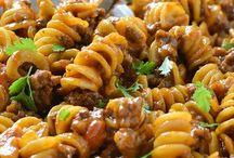 Taco noodle dish