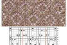 Knitting patterns lace