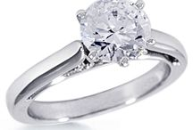 Solitaire Engagement Rings / Classic and beautiful / by DiamondIdeals.com