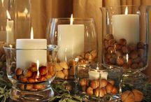 Fall Decorating / Celebrate autumn! Fall decorating ideas for the home. #pumpkins #fall #autumn