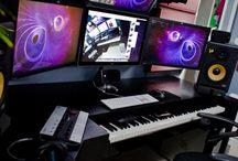 music studio / inspiration photos of cool music studio setups