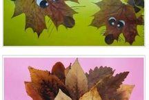 leaf crafts kids