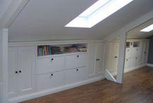 Angled roof storage