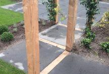 Houtwerken constructies / verschillende mogelijkheden met hout, met name Douglas hout. geschaafd en fijnbezaagd. uiteraard ook met alle andere soorten hout zoals hardhout.