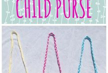 Crochet children bags